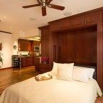 cucina kitchens and baths - custom kitchens san luis obispo - open murphy bed